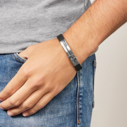 Bracelet homme FOSSIL MENS DRESS silicone