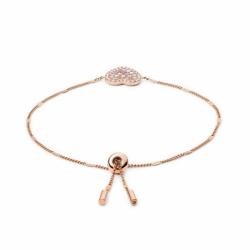 Bracelet Femme Fossil cœur mosaïque