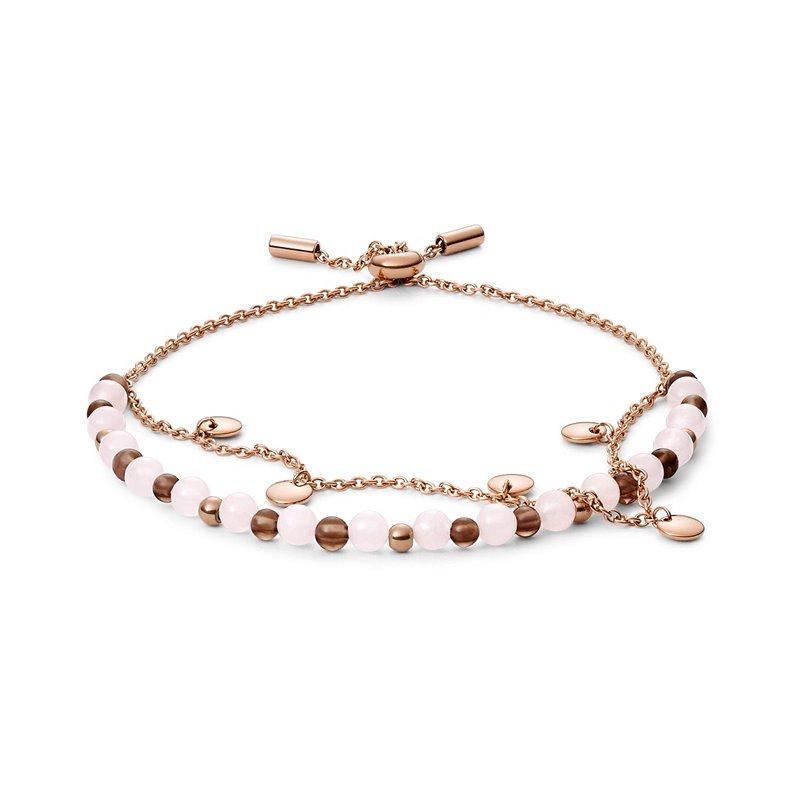 Bracelet double Femme Fossil perle