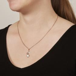 Collier Femme Fossil Glitz à pendentif