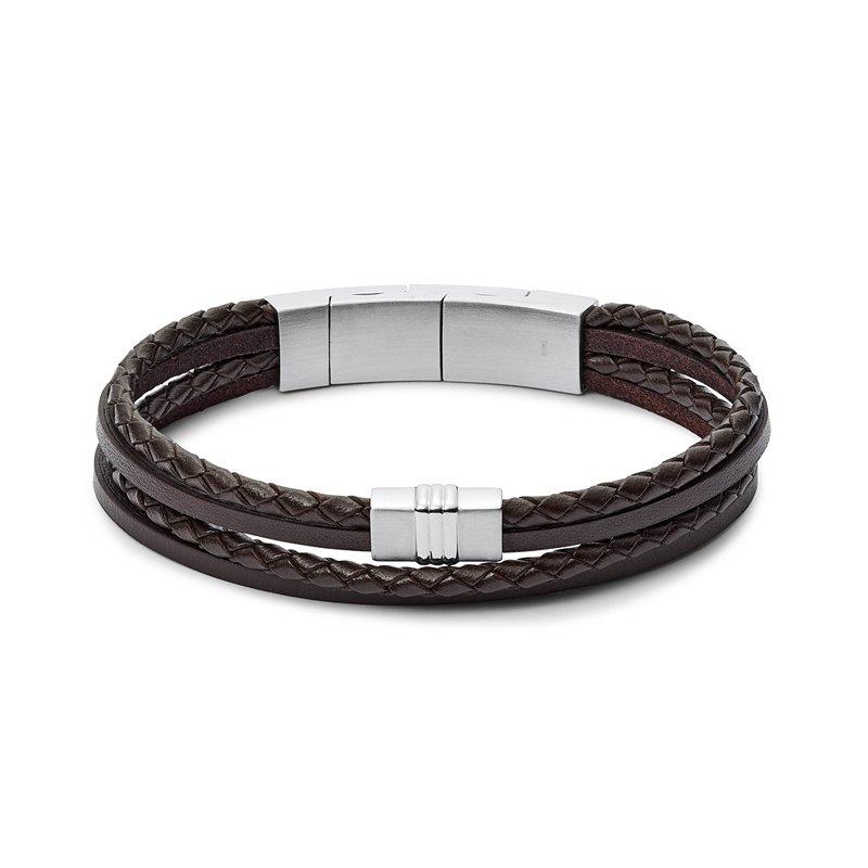 Bracelet homme FOSSIL  CASUAL cuir tressé