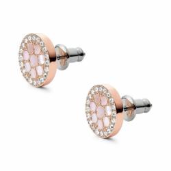 Boucles d'oreilles femme Puces FOSSIL  Acier Doré Rose