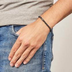 Bracelet homme FOSSIL CASUAL pierre de lave