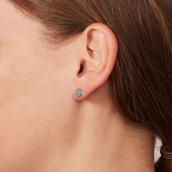 Boucles d'oreilles Femme Fossil disques argentés
