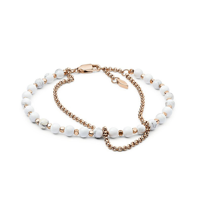 Bracelet femme FOSSIL  perlé
