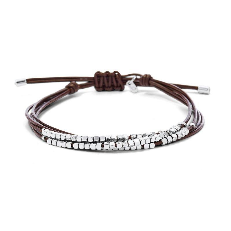 Bracelet femme FOSSIL fin perlé