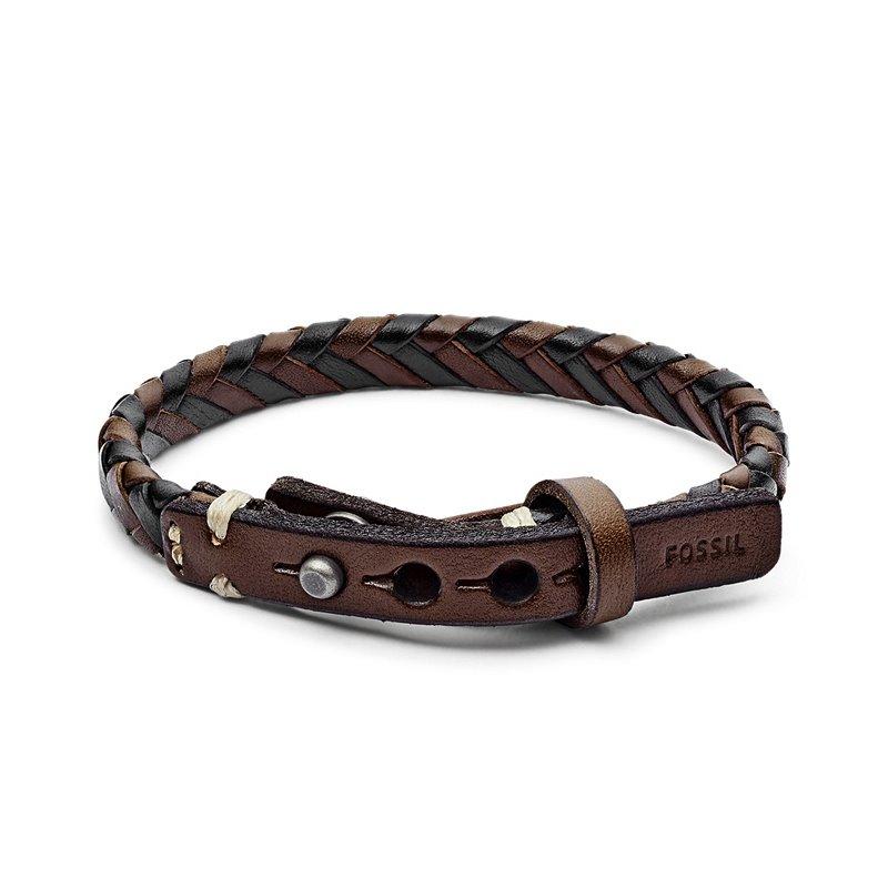 Bracelet Homme Fossil tressé