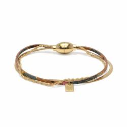 Bracelet Femme Demy Billy jane FLOWERS FOR ZOE Métal Doré et Cuir
