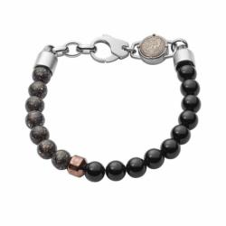 Bracelet homme BEADS noir / gris