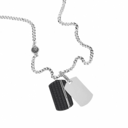 Collier homme DIESEL DOUBLE DOGTAGS