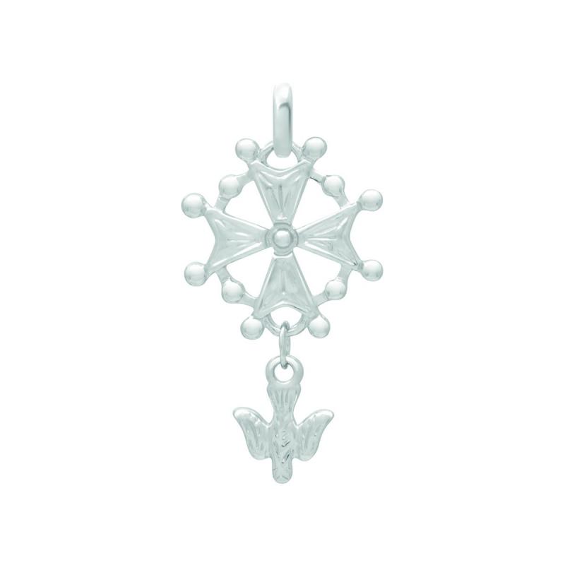 Médaille EDORA Croix Huguenote ARGENT 925/1000
