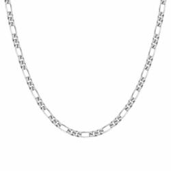 Collier Chaîne ARGENT 925/1000 Figaro diamantée 4 mm