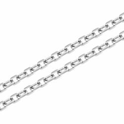 Collier Chaîne ARGENT 925/1000 Forçat diamantée 1.15 mm