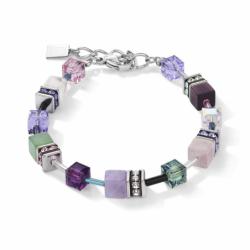 Bracelet Femme COEUR DE LION GeoCUBE Cristaux Swarovski®  et pierres précieuses lilas-vert