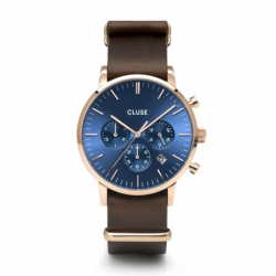 Montre Homme Cluse Aravis chrono nato leather