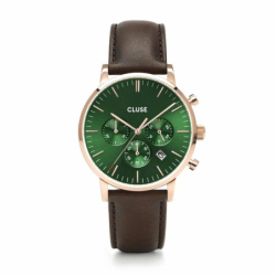 Montre Homem Cluse Aravis chrono leather
