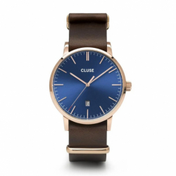 Montre Homme Cluse Aravis nato leather rose gold