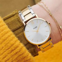 Montre Femme Cluse Minuit 3-Link Gold Silver