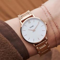 Montre Femme Cluse Minuit 3-Link Rose Gold