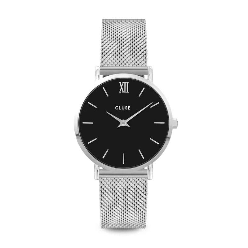 Montre Femme Cluse Minuit Mesh Silver Black