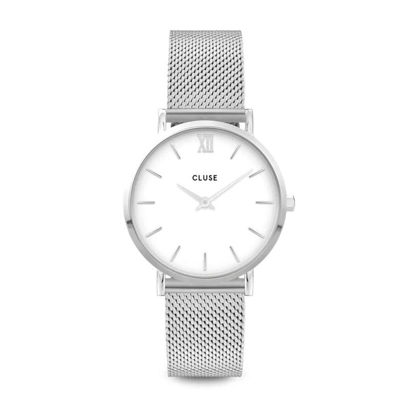 Montre Femme Cluse Minuit Mesh Silver White