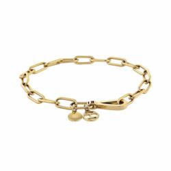 Bracelet Femme Chaîne TOMMY HILFIGER Acier Doré