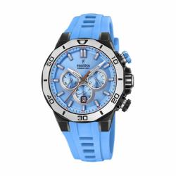Montre homme chronographe  FESTINA CHRONOBIKE Silicone bleu