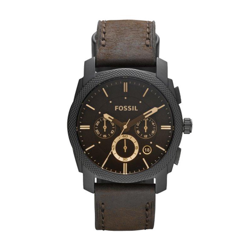 Montre homme FOSSIL MACHINE chronographe Cuir Brun