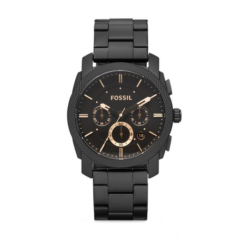 Montre homme FOSSIL MACHINE chronographe Acier Noir