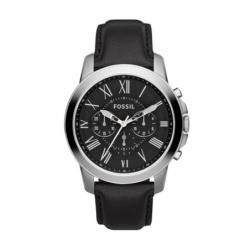 Montre homme FOSSIL GRANT chronographe Cuir Noir