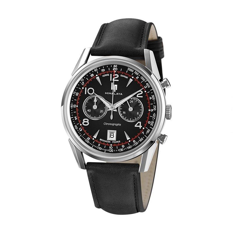 Montre Homme LIP HIMALAYA 40 chronographe Cuir Noir