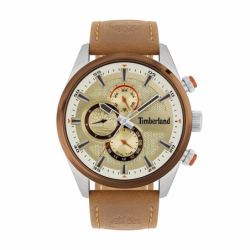 Montre Homme Chronographe TIMBERLAND Ridgeview Cuir Marron
