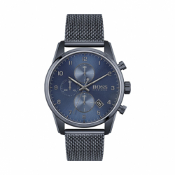 Montre Homme Chronographe HUGO BOSS Acier Bleu