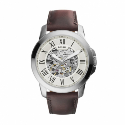 Montre homme FOSSIL GRANT automatique chronographe Cuir Brun