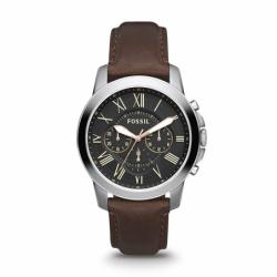 Montre homme FOSSIL GRANT chronographe Cuir Brun