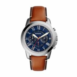 Montre homme FOSSIL GRANT chronographe Cuir Marron