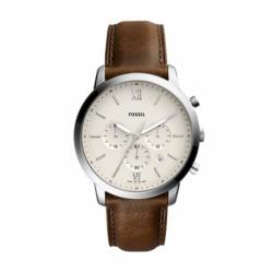 Montre homme FOSSIL NEUTRA chronographe Cuir Brun