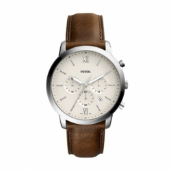 Montre homme FOSSIL NEUTRA chronographe Cuir Brun