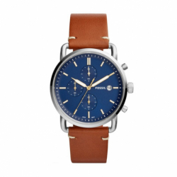 Montre homme FOSSIL COMMUTER chronographe Cuir Marron