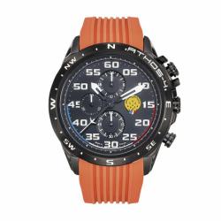 Montre Homme Patrouille de France Chronographe Athos 4 silicone orange moyen