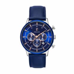 Montre homme PIERRE LANNIER CAPITAL Chronographe  Cuir Bleu