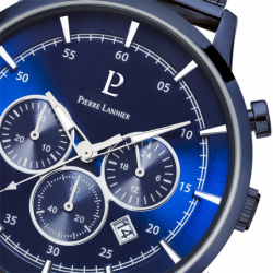 Montre homme Chronographe PIERRE LANNIER CAPITAL Acier Bleu